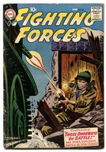 Our Fighting Forces #22 1957-DC SILVER AGE- Joe Kubert VG