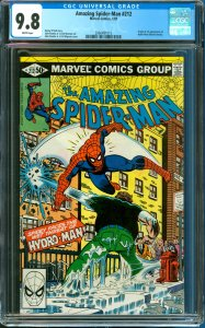 Amazing Spider-Man #212 CGC Graded 9.8 1st Appearance of Hydro-Man