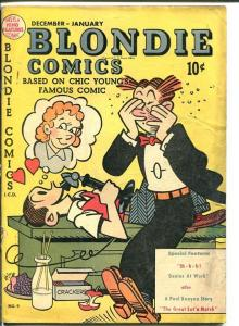 BLONDIE COMICS #9-old time phone cover-Golden Age G/VG