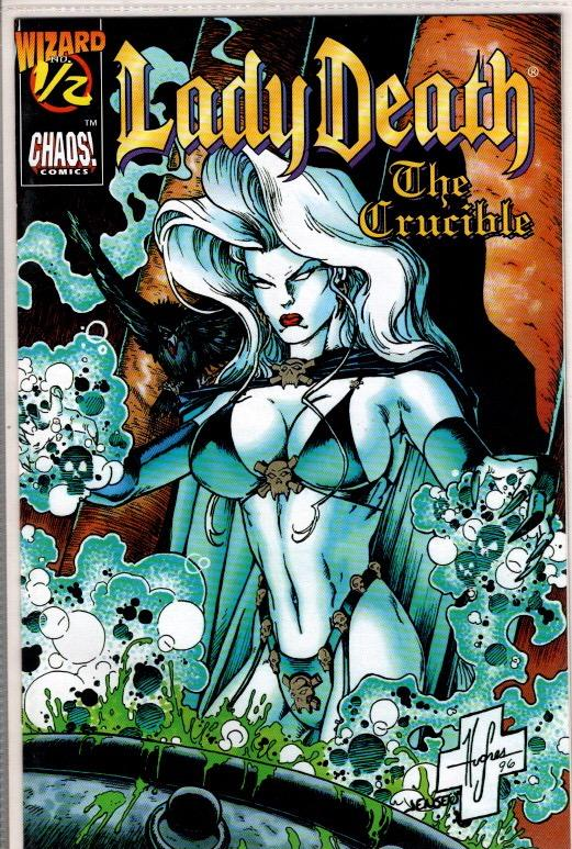 LADY DEATH THE CRUCIBLE #1/2 NEAR MINT WITH COA $10.00