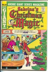 Archie Giant Series #231 1975-Sabrina's Magic-Santa Claus-FN/VF