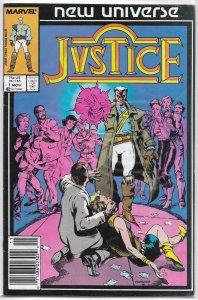 Justice (Marvel) # 1 VG (New Universe) Goodwin/Isherwood