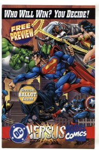DC VERSUS MARVEL 1995 Consumer preview with sealed trading cards-comic book