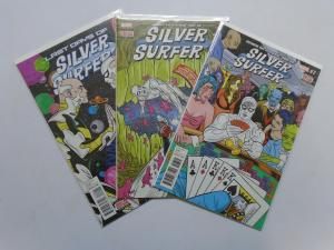 Silver Surfer (5th Series), 3 Different #7,8,15, 8.0/VF (2014)