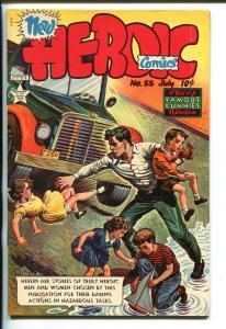HEROIC #55 1949-FAMOUS FUNNIES-ART HELFANT-ALEX TOTH-AUTO CRASH-vf+