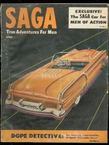 SAGA PULP-APR 1952-CARS-ADVENTURE-DOPE DETECTIVE-CRIME FR/G