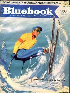BLUE BOOK PULP-FEB 1952-G-FLEMING COVER-ROBINSON-LUKE-PATTERSON-SKIING G
