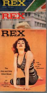 Rex-Vintage Men's Magazine Complete Lot of 1st 3 Issues 1957-cheesecake-VG