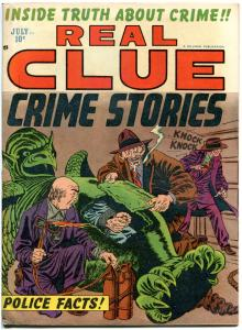 REAL CLUE CRIME STORIES V7 #5, FN, 1952, Golden Age, Pre-code, more in store