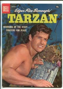 TARZAN #101-1958-DELL-GORDON SCOTT COVER- BURROUGHS- MARSH- MANNING-vf minus