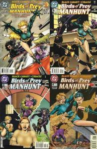 BIRDS OF PREY MANHUNT (1996) 1-4  the COMPLETE series!