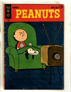Peanuts # 1 VG/FN Gold Key Silver Age Comic Book Charley Brown Snoopy RS1