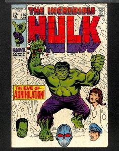 Incredible Hulk #116 FN 6.0
