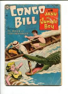 CONGO BILL #2-1954-JANU THE JUNGLE BOY-CROCODILE ISSUE-SHARK FEATURE-FR/G FR/G