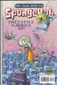 SpongeBob Freestyle Funnies FCBD ORIGINAL Vintage 2014 United Plankton Comics