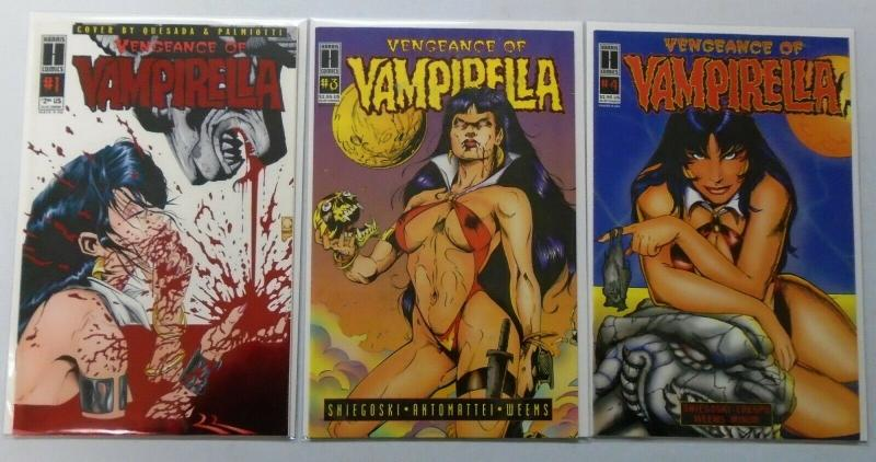 Vengeance of Vampirella, Set:#1,2,4, 8.0/VF (1995)