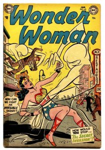 WONDER WOMAN  #63 comic book 1954-DC-Sci-Fi cover-Golden Age