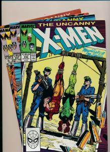 MARVEL Great SET!!! UNCANNY X-MEN #236-239 VG/F (PJ74)