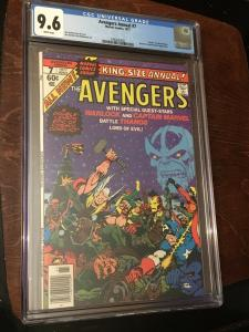 Avengers Annual #7 1977 CGC 9.6 White Death of Adam Warlock Thanos Cover