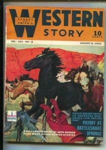 Western Story 8/8/1942-Street & Smith-H.W. Scott cover-Pulp fiction-Harry Sin...