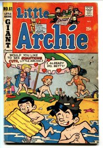 Little Archie #61 First appearance of LITTLE SABRINA
