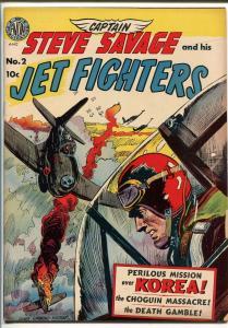 CAPTAIN STEVE SAVAGE #2-1951-AVON-KINSTLER COVER-KOREAN WAR-JACK KAMEN-vg