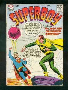 SUPERBOY COMICS #67 1958-DC COMICS-CLASSIC COVER VG-