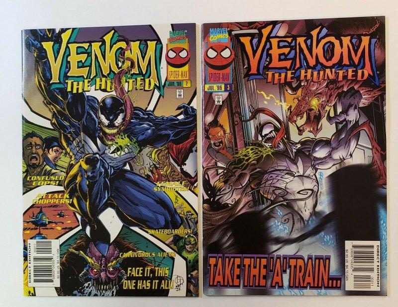 Venom: The Hunted #1-3 Complete Set Marvel Comics 1996 VF/NM