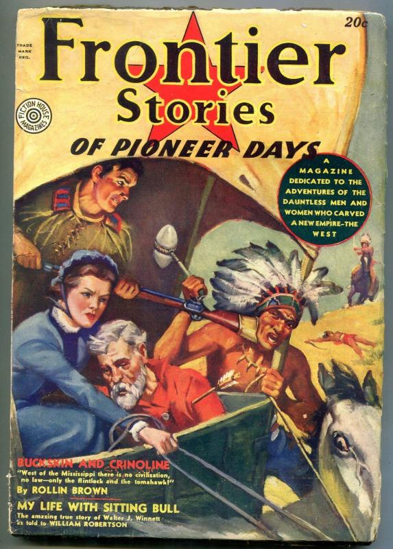 Frontier Stories Pulp Fall 1937- Sidney Riesenberg- Sons of the Alamo VG/F