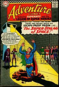 ADVENTURE COMICS #344 1966-SUPERBOY LEGION SUPER-HEROES VG/FN