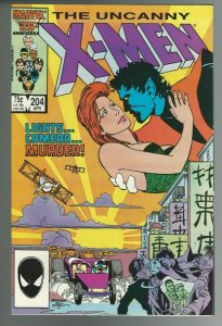 The Uncanny X-Men #204 (1986, Marvel) NM 9.4