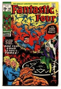 FANTASTIC FOUR #110 1971 MARVEL CORRECT COLOR SCHEME VF-