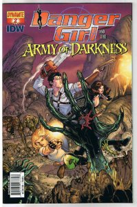 DANGER GIRL and the ARMY of DARKNESS #2 C, NM, Bradshaw, 2011, more AOD in store