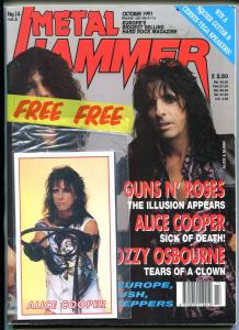 METAL JAMMER 10/1991-ALICE COOPER-OZZY OSBOURNE-GUNS N' ROSES-HARD ROCK-fn