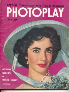 Photoplay-Liz Taylor-Tony Curtis, Susan Hayward-Ricardo Montalban-May-1951