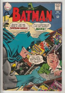 Batman #199 (Feb-68) FN/VF+ High-Grade Batman, Robin the Boy Wonder