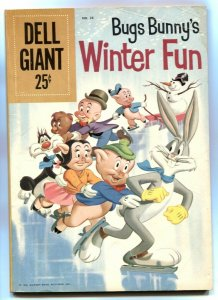Bugs Bunny's Winter Fun- Dell Giant #28 1960 VG-
