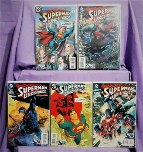 Scott Snyder SUPERMAN UNCHAINED #1 - 3 Jim Lee w 2 Variant Covers (DC, 2013)!