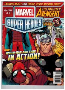 Marvel Super Heroes Magazine April 2013 # 7 Avengers Dr. Strange Spider-Man S87