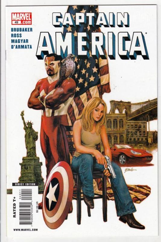 Captain America #49 (Jun-09) NM+ Super-High-Grade Captain America aka Bucky B...