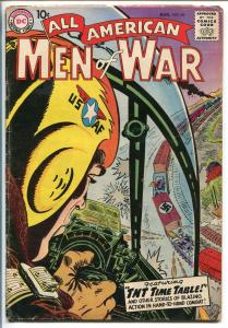 ALL-AMERICAN MEN OF WAR #60-1958-WWII-DC-SILVER AGE-AIR FORCE-HEATH-vg