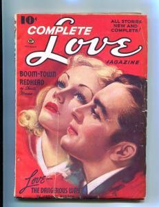 COMPLETE LOVE PULP-FEB-1942-GOOD GIRL ART-WW II ERA !! VG