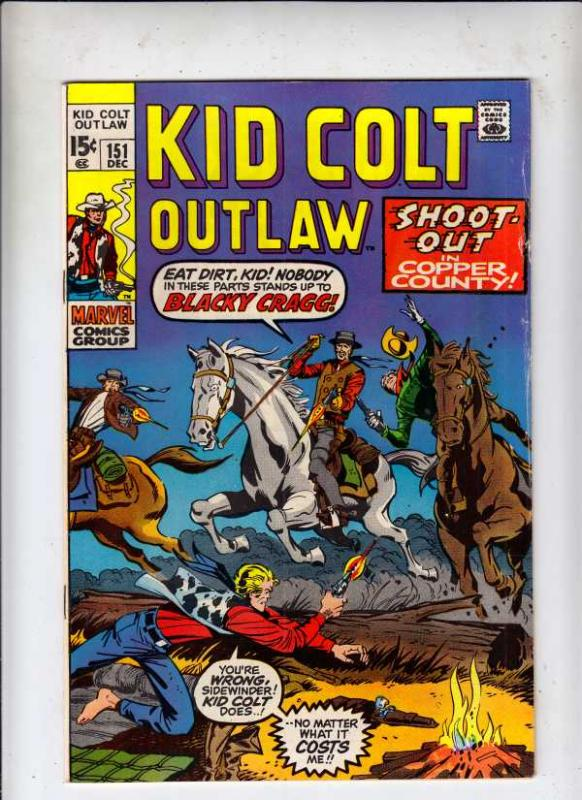Kid Colt Outlaw #151 (Dec-70) FN/VF Mid-High-Grade Kid Colt