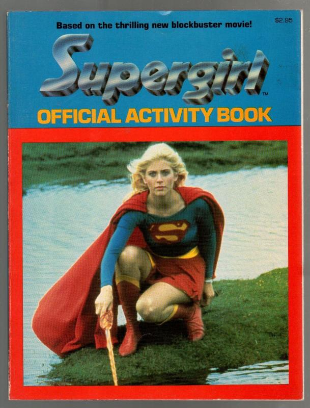 Supergirl Official Activity Book 1984-Helen Slater photo cover-puzzles-games-VF
