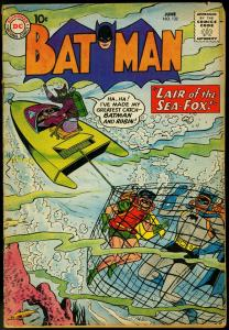 Batman #132 1960- Robin - Scuba cover- Sea Fox DC Silver Age VG
