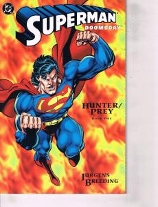 Lot Of 2 DC Comic Books Superman Doomsday Book One and For all Seasons  ON4