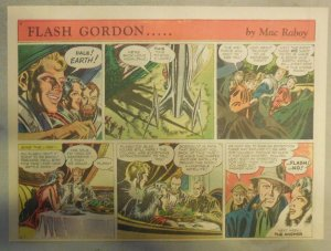 Flash Gordon Sunday Page by Mac Raboy from 6/7/1953 Half Page Size