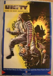 UNITY Promo poster, Frank Miller, Shadow Man, 22x34, 1991, Unused, more in store