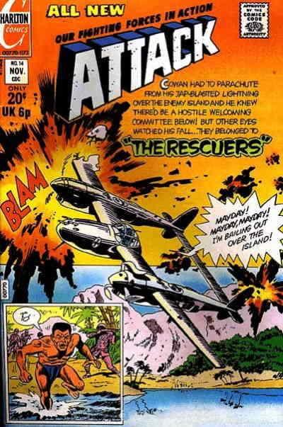 Attack 4th Series 14 Vg Charlton Low Grade Comic Save On