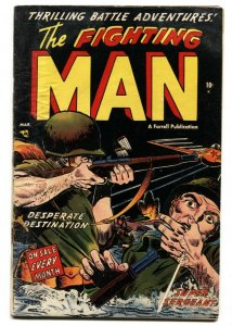 Fighting Man #5 AMERICAN SOLDIER SHOT ON COVER! Golden-Age comic